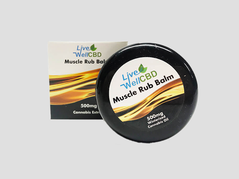 LVWell CBD Cosmetics Muscle Rub Balm 500mg